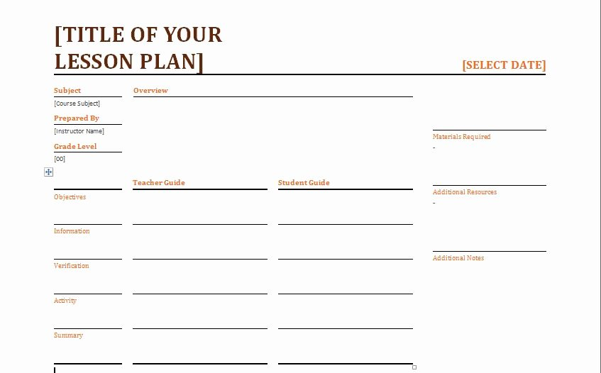 Formal Lesson Plan Template Beautiful Teacher Daily Lesson Planner Template