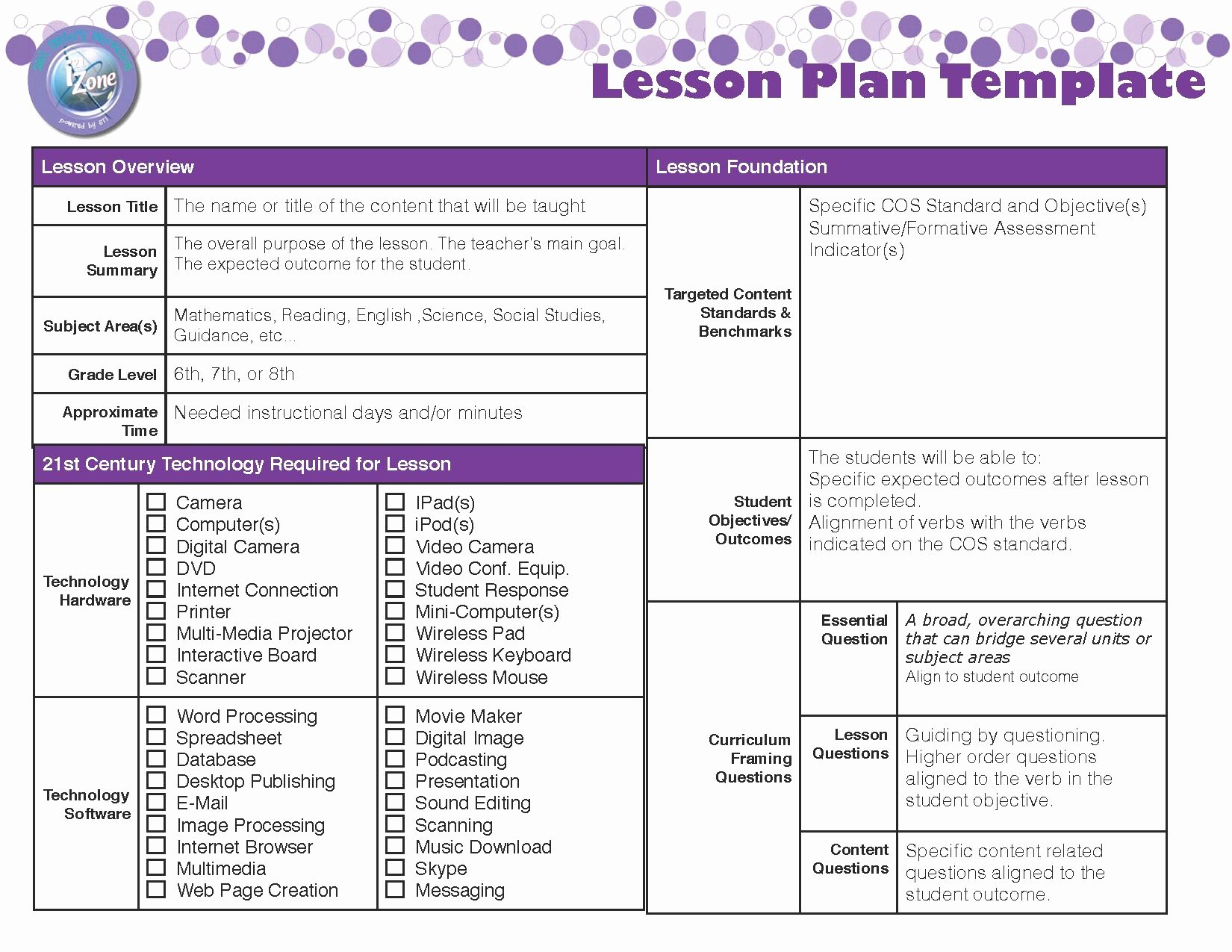 Formal Lesson Plan Template Best Of Lesson Plan Template