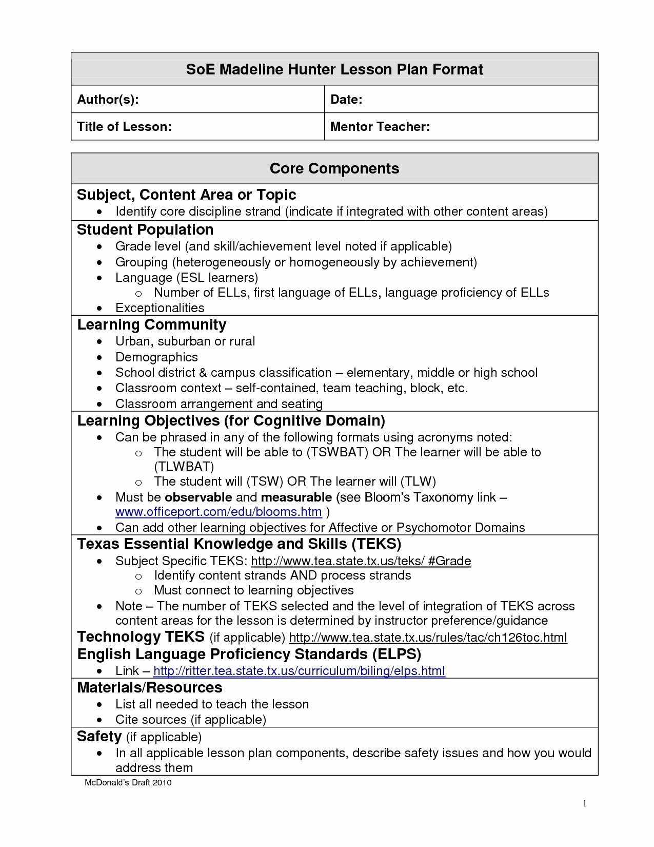 Formal Lesson Plan Template Best Of Refrence formal Letter Template Lesson Plan