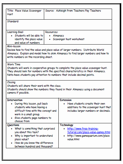 Formal Lesson Plan Template Fresh Lesson Plan format On Pinterest