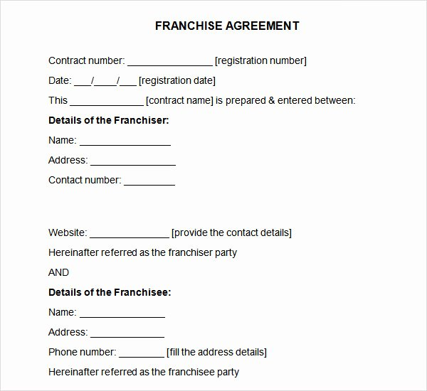 Franchise Business Plan Template Beautiful Franchise Agreement 7 Download Free Documents In Pdf Word