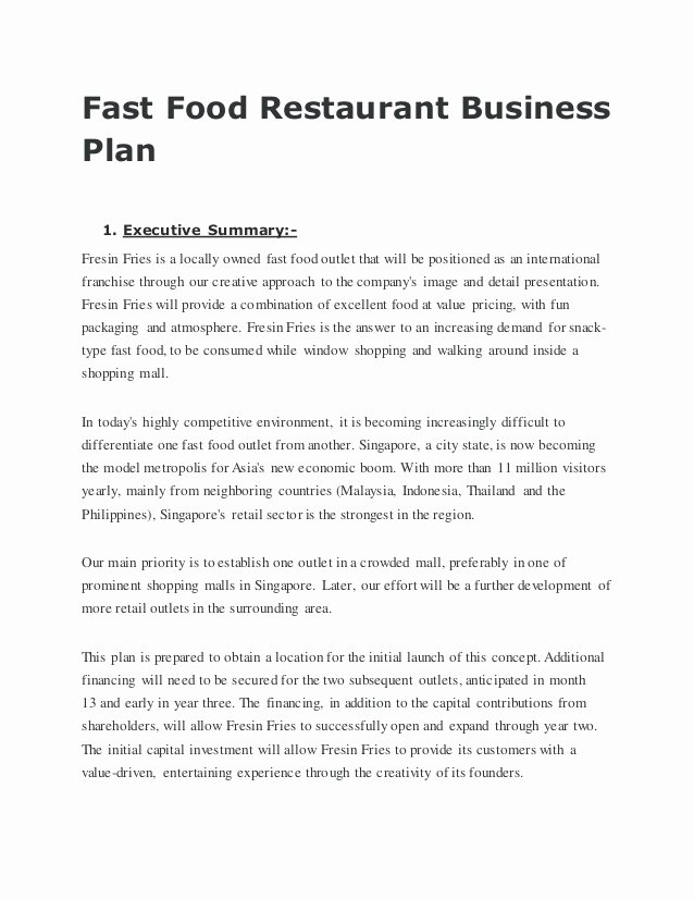 Franchise Business Plan Template New Business Plan Template for Pizza Franchise Templates