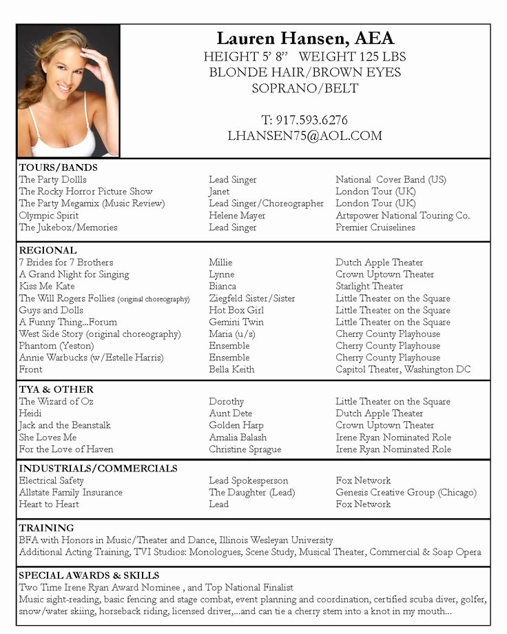 Free Acting Resume Template Fresh 25 Best Ideas About Acting Resume Template On Pinterest