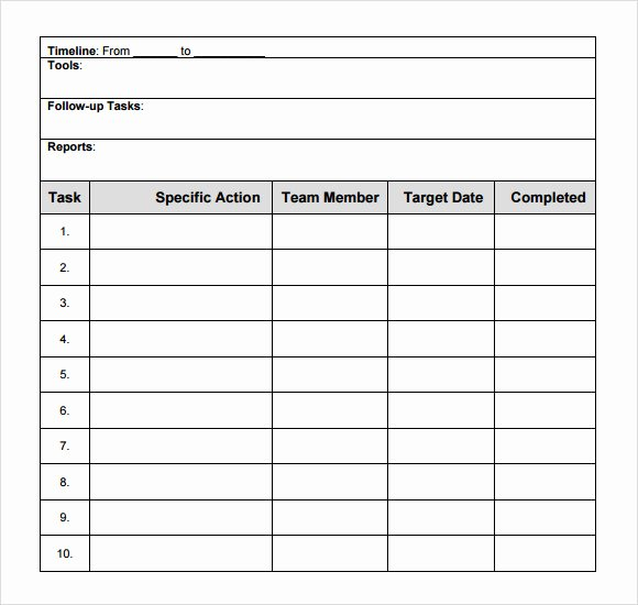 Free Action Plan Template Awesome 10 Sample Action Plans