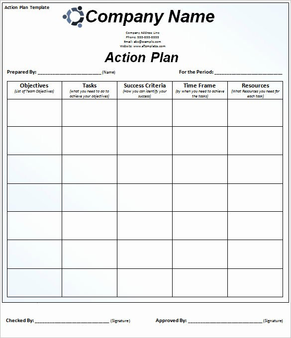 Free Action Plan Template Awesome 85 Action Plan Templates Word Excel Pdf