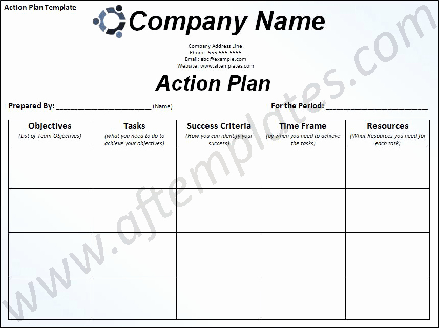Free Action Plan Template Awesome Action Plan Template