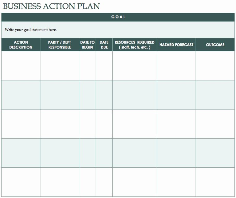 Free Action Plan Template Awesome Free Action Plan Templates Smartsheet