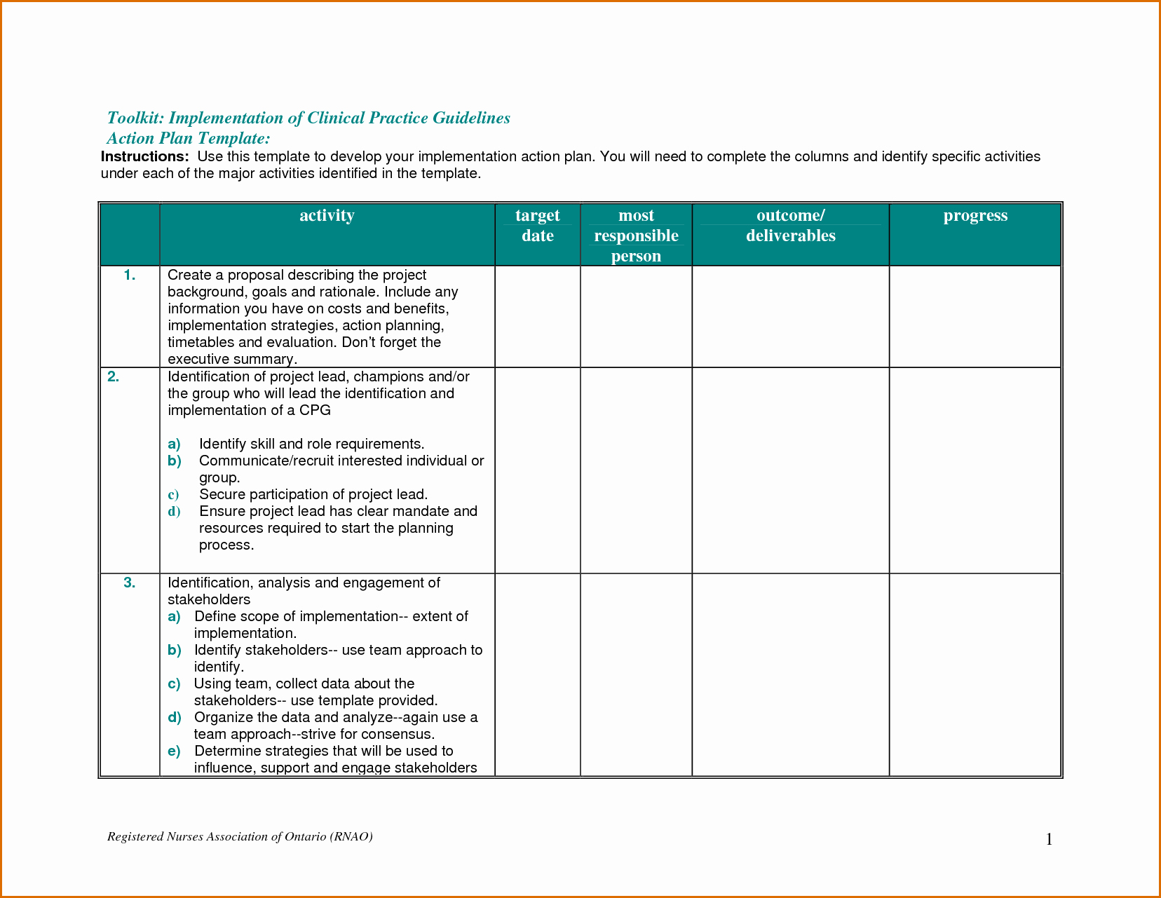 Free Action Plan Template Beautiful 8 Action Plan Template Free