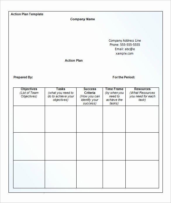 Free Action Plan Template Elegant 14 Business Action Plan Template Doc Pdf