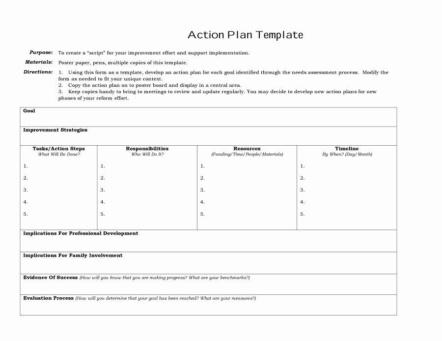 Free Action Plan Template Elegant 45 Free Action Plan Templates Corrective Emergency