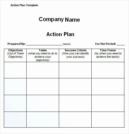 Free Action Plan Template Fresh 27 Plan Templates