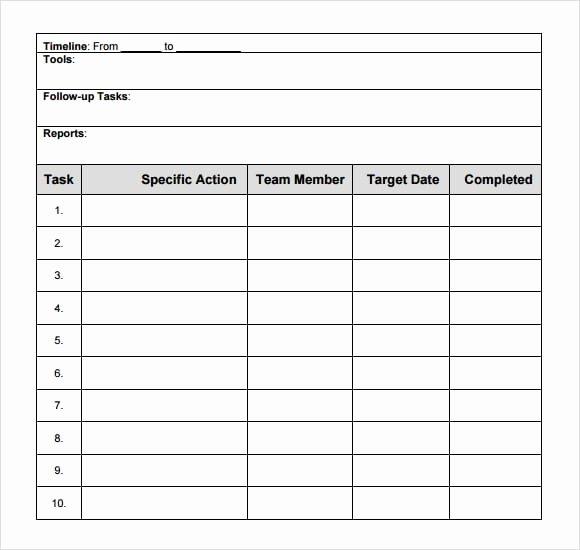 Free Action Plan Template Inspirational top 6 Free Action Plan Templates Word Templates Excel