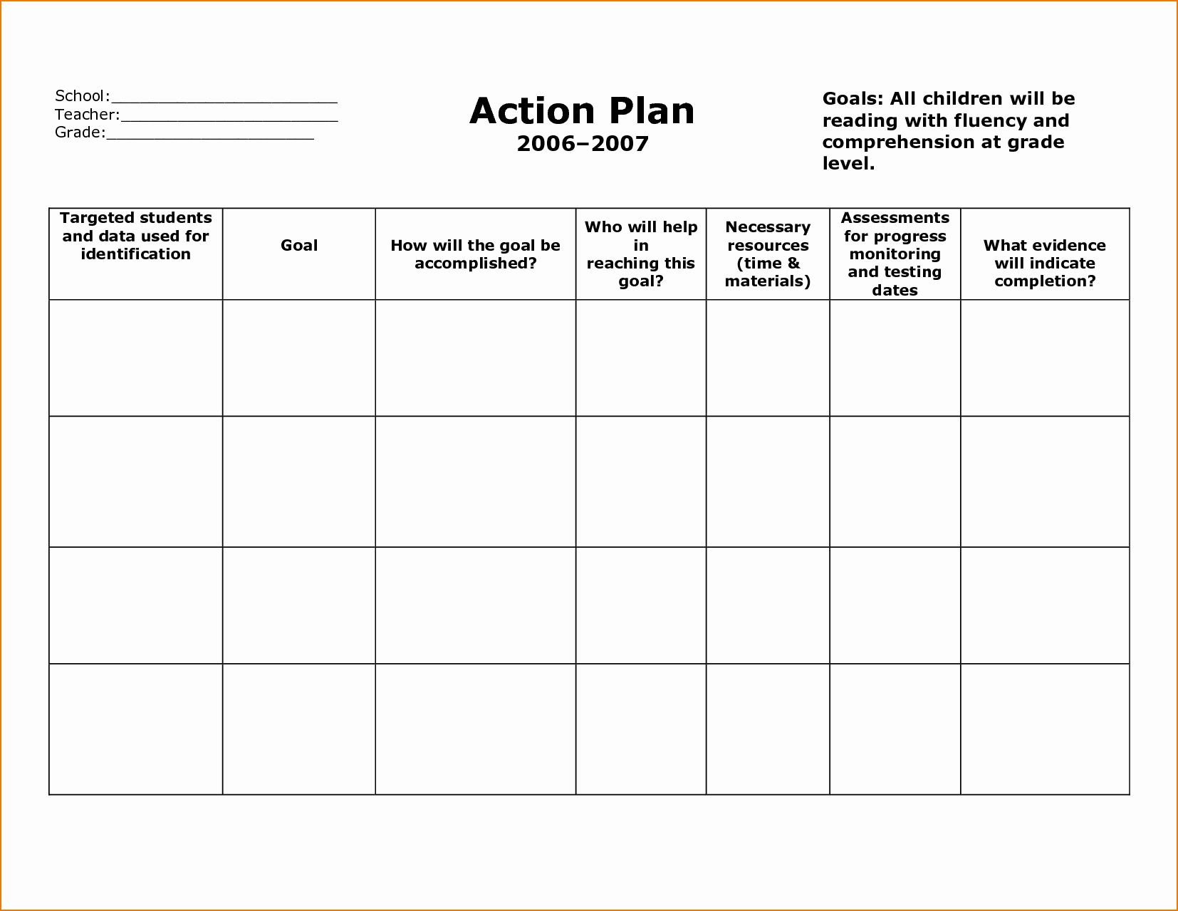 Free Action Plan Template Unique 6 Sample Action Plan Template