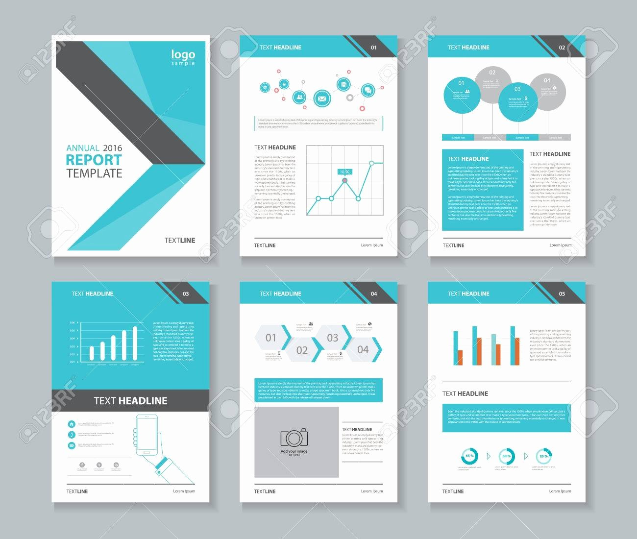 Free Annual Report Template Awesome Annual Report Brochure Templates Creative Market Unique