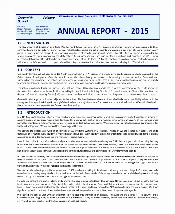 Free Annual Report Template Beautiful Annual Report Template Free