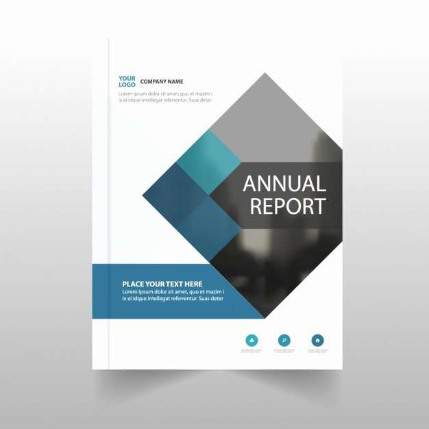 Free Annual Report Template Elegant Annual Report Template for Business Vector