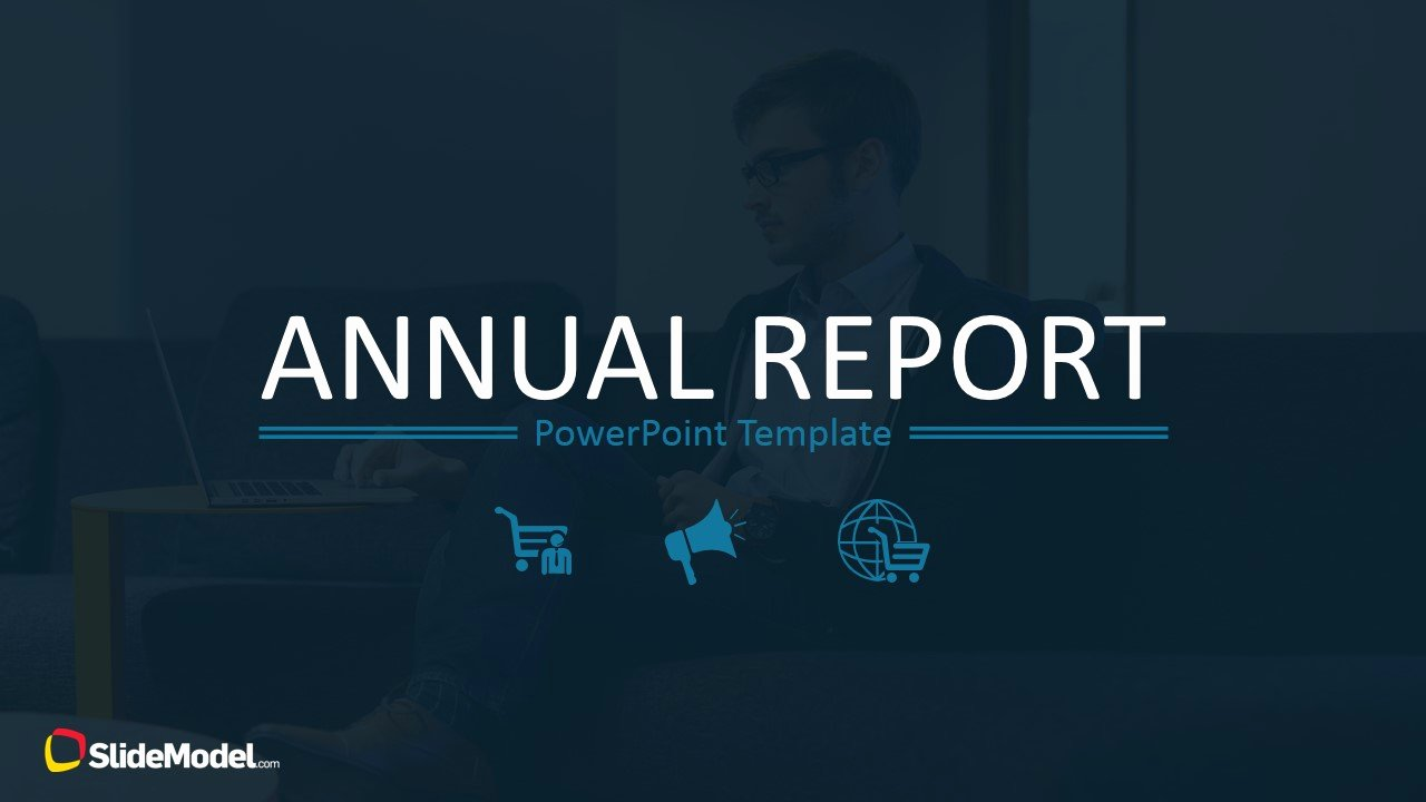 Free Annual Report Template Luxury Annual Report Template for Powerpoint Slidemodel