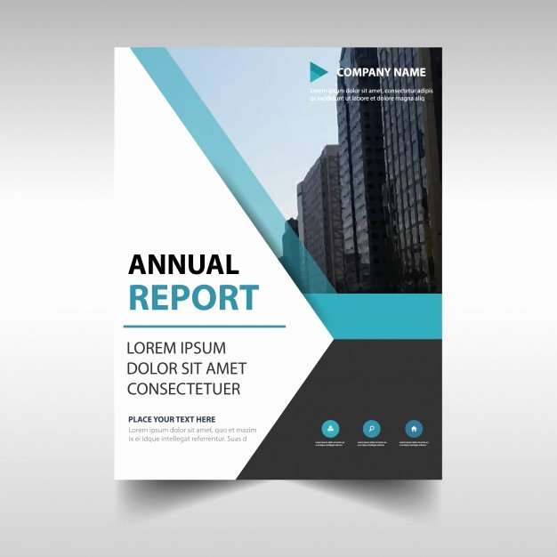 Free Annual Report Template Luxury Elegant Blue Professional Annual Report Template Vector