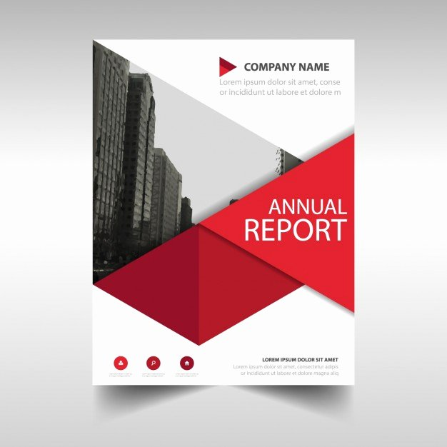 Free Annual Report Template Luxury Red Geometric Annual Report Template Vector