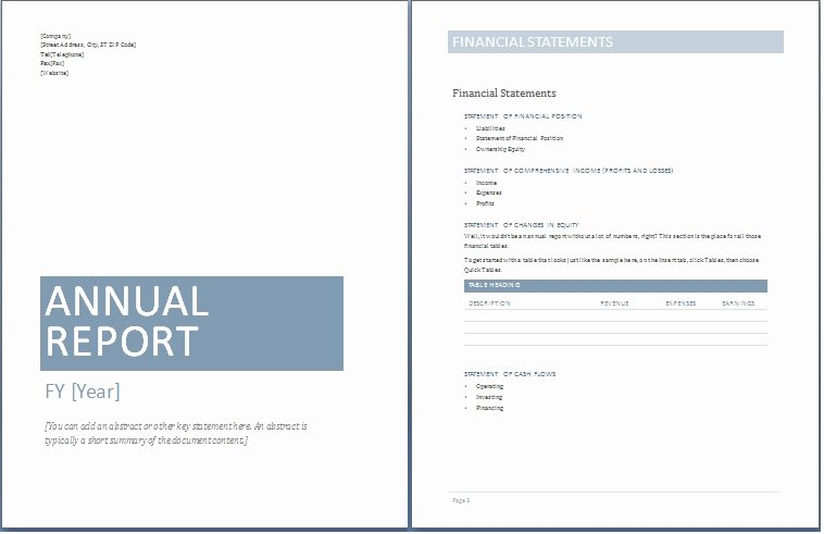 Free Annual Report Template New Annual Report Template Free 2016