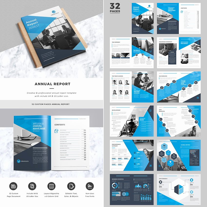 Free Annual Report Template Unique 15 Annual Report Templates with Awesome Indesign Layouts