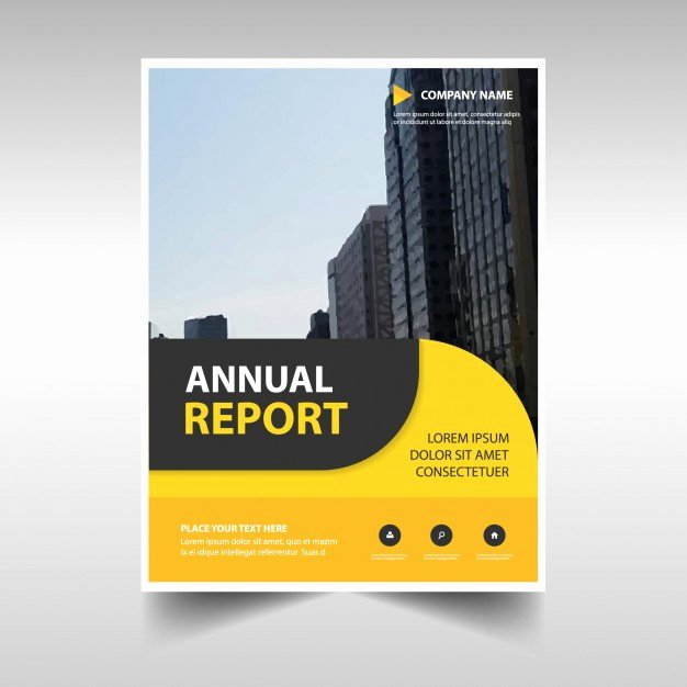 Free Annual Report Template Unique Rounded Yellow Abstract Corporate Annual Report Template