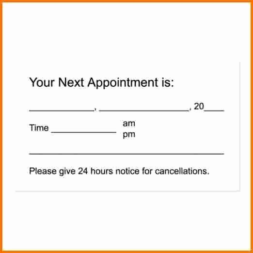 Free Appointment Card Template Beautiful Appointment Cards Template