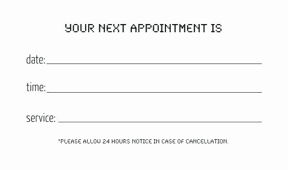 Free Appointment Card Template Elegant Doctors Note Templates Free Sample Example format Download