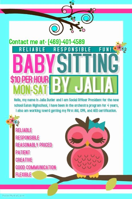 Free Babysitting Flyer Template Best Of 10 Best Babysitting Flyer Template Images On Pinterest