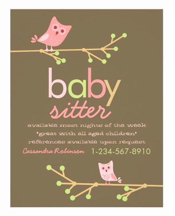 Free Babysitting Flyer Template Best Of Best 25 Babysitting Flyers Ideas On Pinterest
