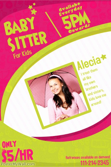 Free Babysitting Flyer Template Lovely Babysitting Flyer Templates
