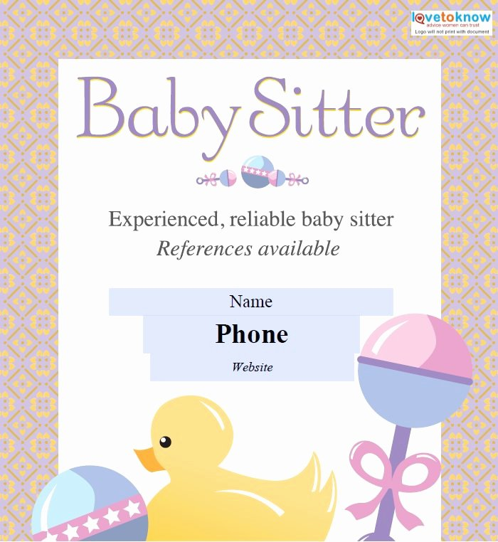 Free Babysitting Flyer Template Luxury 11 Fabulous Psd Baby Sitting Flyer Templates