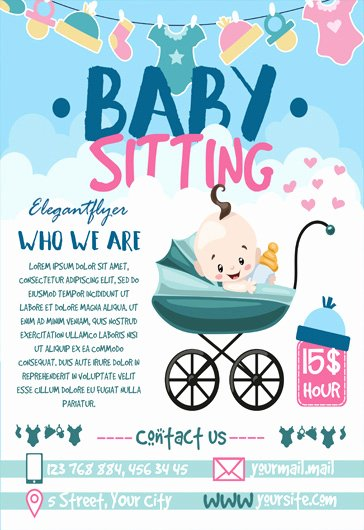 Free Babysitting Flyer Template Luxury Free Babysitting Psd Template – by Elegantflyer