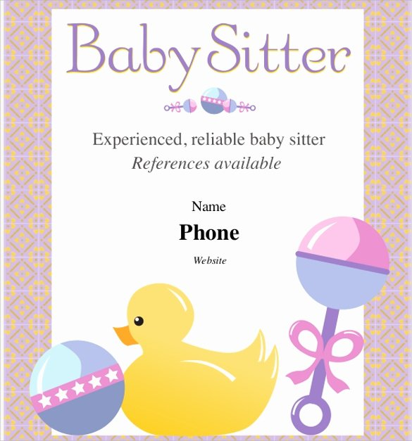 Free Babysitting Flyer Template Unique 11 Babysitting Flyers