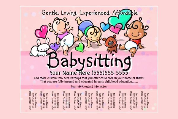 Free Babysitting Flyer Template Unique 11 Fabulous Psd Baby Sitting Flyer Templates