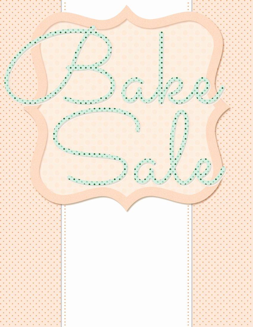 Free Bake Sale Template Elegant 5 Free Bake Sale Flyer Templates