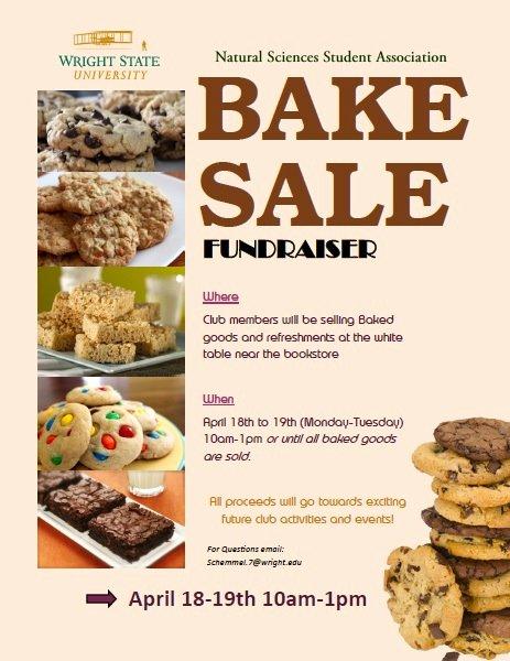 Free Bake Sale Template Elegant Bake Sale Natural Sciences Student association Fundraiser