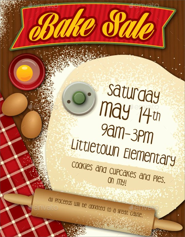 Free Bake Sale Template Lovely 32 Bake Sale Flyer Templates Ai Psd Publisher