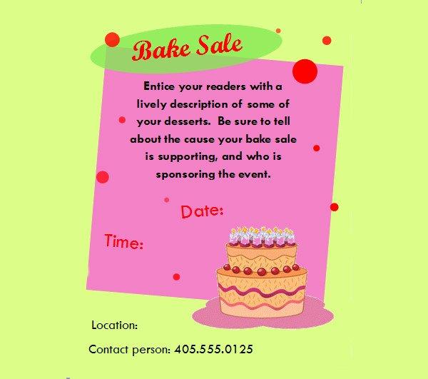 Free Bake Sale Template Luxury 32 Bake Sale Flyer Templates Ai Psd Publisher