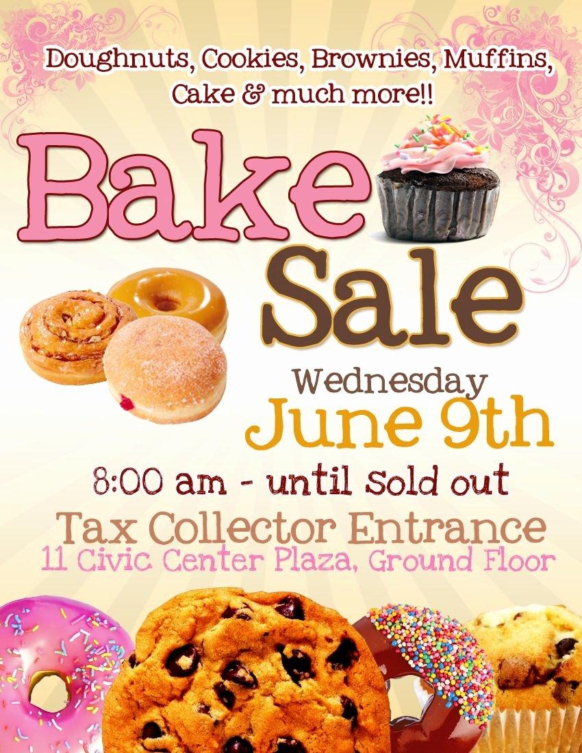Free Bake Sale Template Luxury Bake Sale Flyer Template Free Cakepins