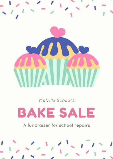 Free Bake Sale Template Luxury Sprinkles Border with Cupcakes Bake Sale Fundraising Flyer