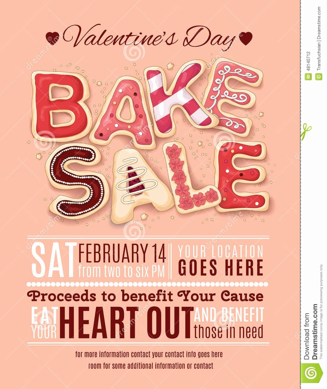 Free Bake Sale Template Luxury Valentines Day Bake Sale Flyer Template Download From