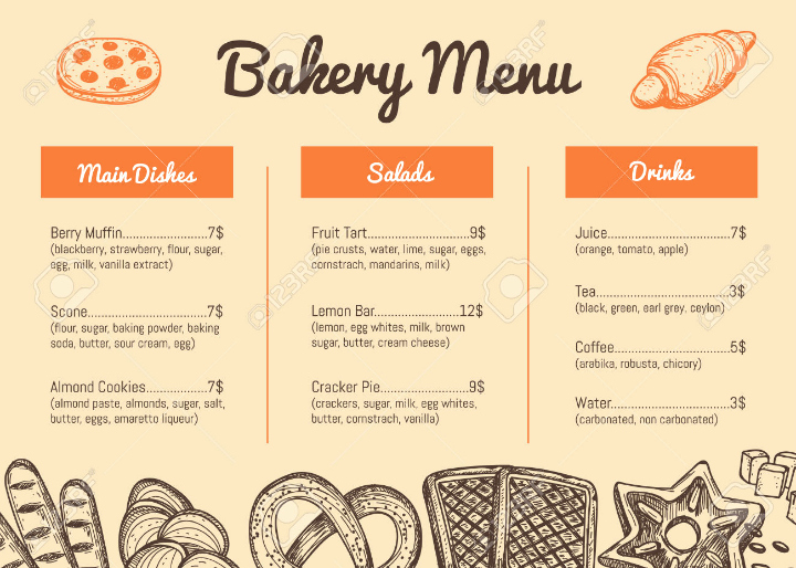 Free Bakery Menu Template Awesome 15 Best Product Menu Templates Psd Ai
