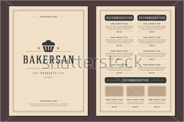 Free Bakery Menu Template Awesome 30 Bakery Menu Templates Free Designs Ideas Samples