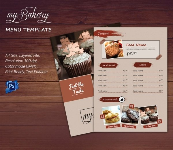 Free Bakery Menu Template Beautiful Bakery Menu Template – 30 Free Word Psd Pdf Eps