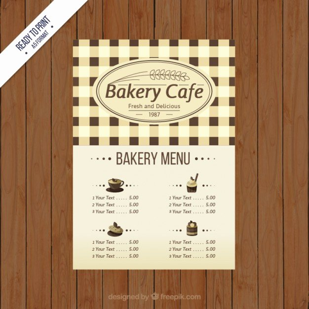 Free Bakery Menu Template Best Of Bakery Cafe Menu Template Vector