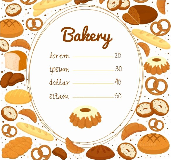 Free Bakery Menu Template Luxury 30 Bakery Menu Templates Psd Pdf Eps Indesign