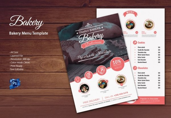 Free Bakery Menu Template New Bakery Menu Template – 30 Free Word Psd Pdf Eps