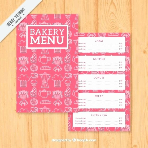 Free Bakery Menu Template New Free Bakery Menu Template 11 Secrets About Free Bakery Menu