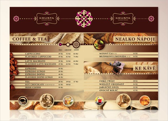 Free Bakery Menu Template Unique Coffee Shop Menu Template Free Fresh Design Coffee Vectors